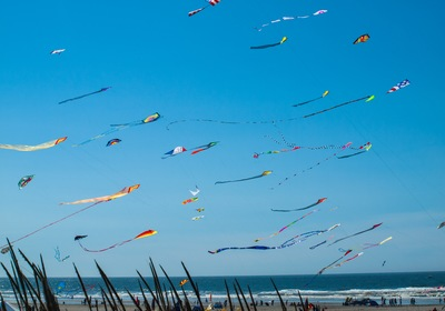 CHANGING FLAGLER BEACH'S SKYLINE – COLORFUL KITES